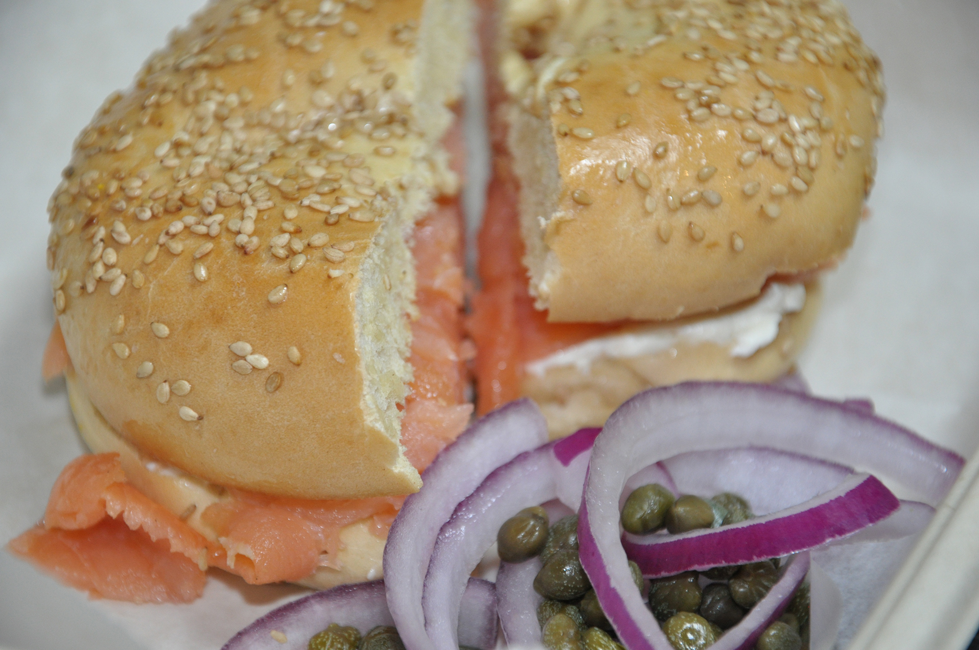 Lox and Cream Cheese Bagel