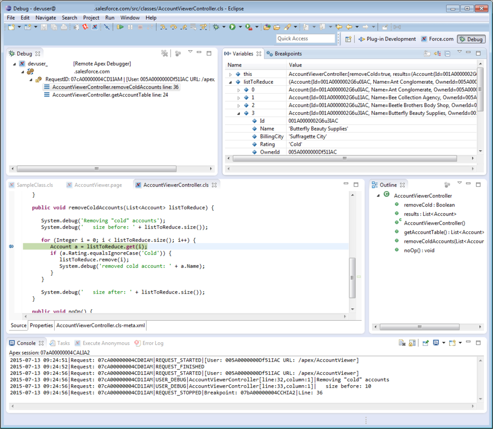 Debugging Apex With Salesforce's Debug Logs and Checkpoints