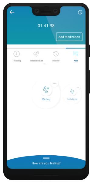 Memo Health Assistant app medication screen