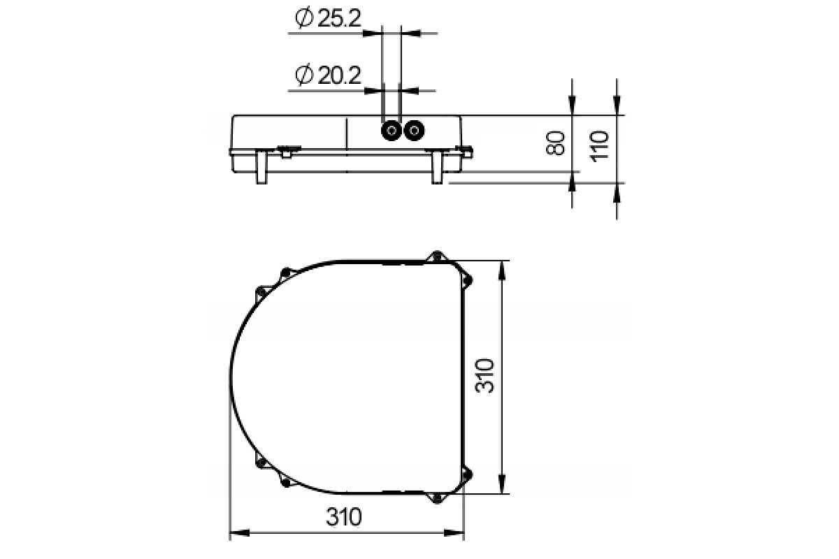 LOXONE Speaker Einbaubox Plan 001
