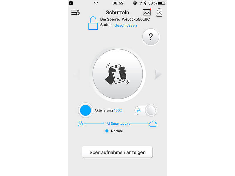 VISORTECH Fingerprint-Zylinder App 001