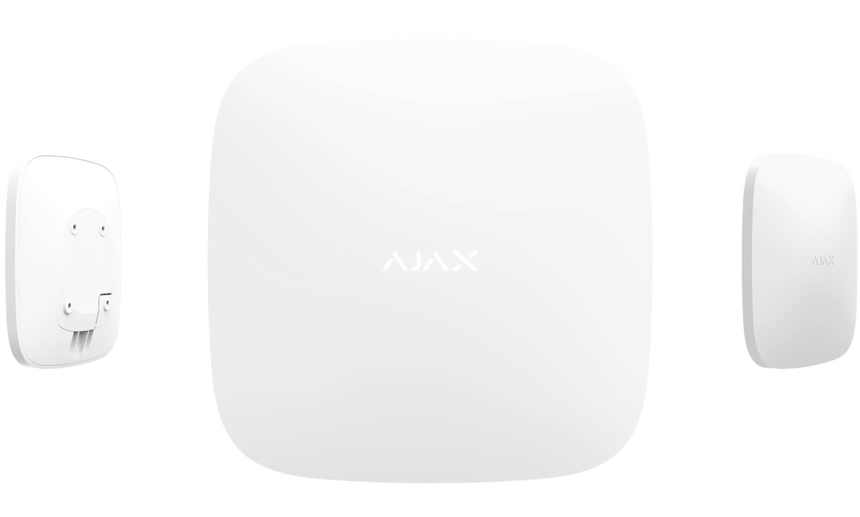 AJAX Zentrale Anwendung weiß