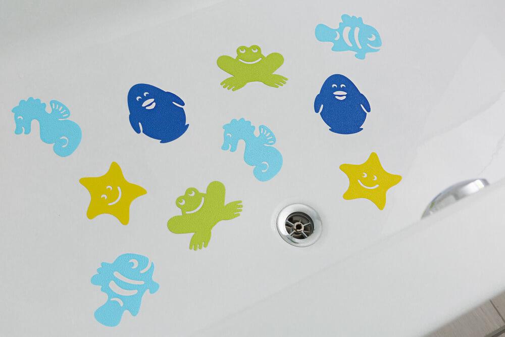 ABUS Anti-Rutsch-Badewannen-Aufkleber JC8710 Kim Anwendung 001