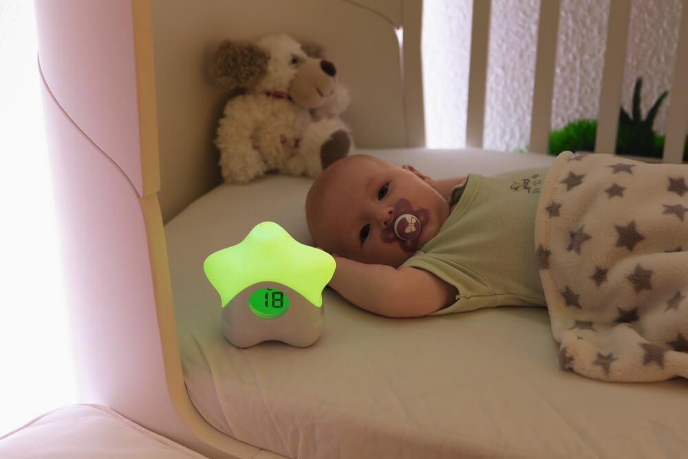 ABUS Nachtlicht mit Temperaturanzeige JC8650 Lily Anwendung