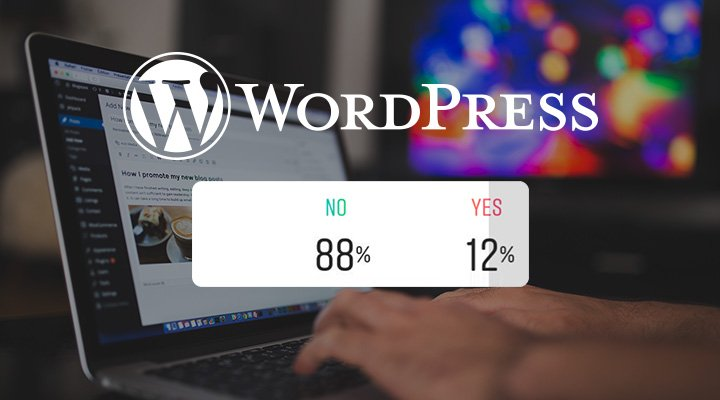 Wordpress cover photo with poll graphics