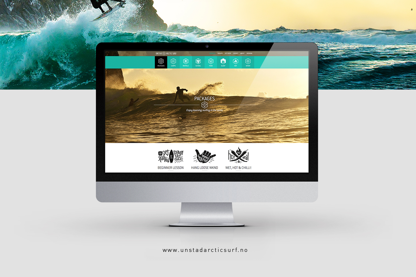 Unstad Arctic Surf website on imac