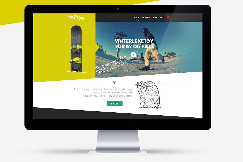 Onefoot website on imac