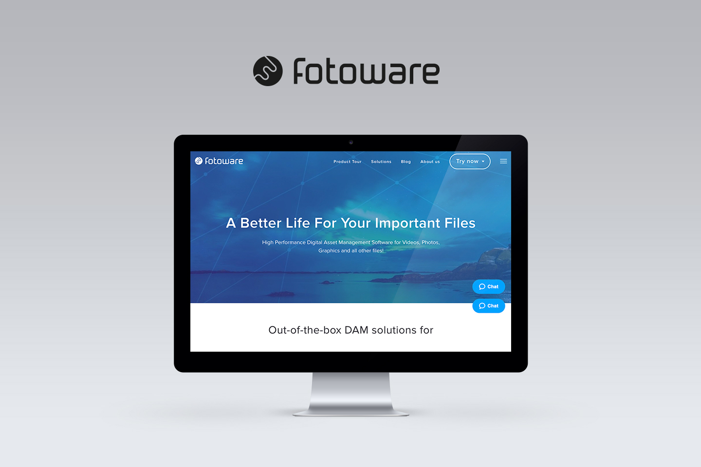 Fotoware website on imac