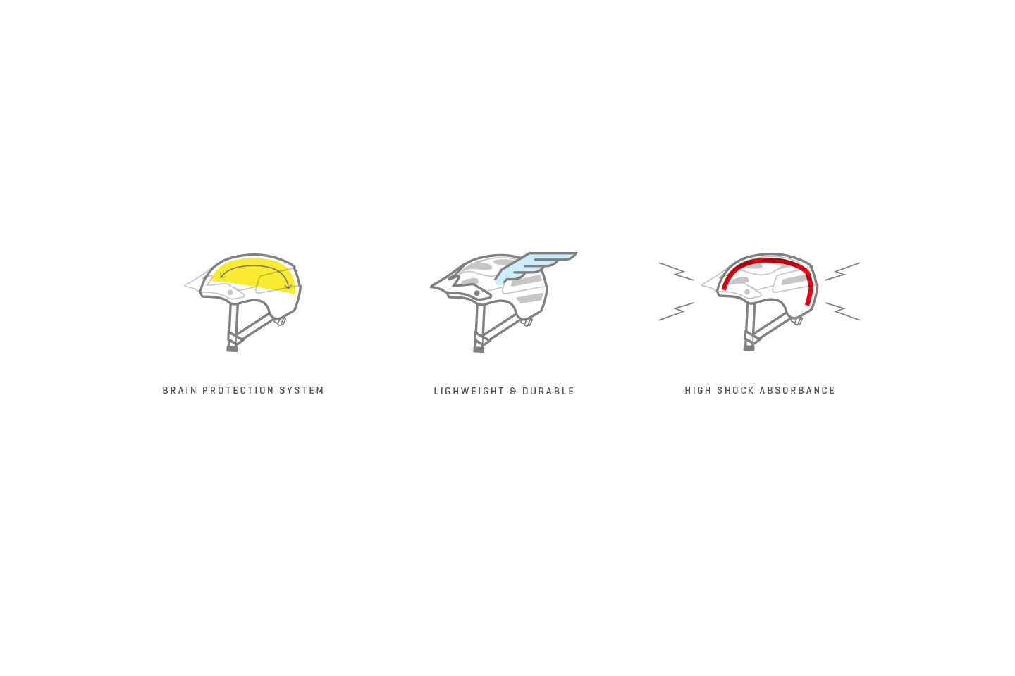 Sweet Protection helmet illustrations.