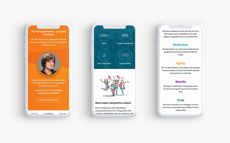 CatalystOne - Web mobile details