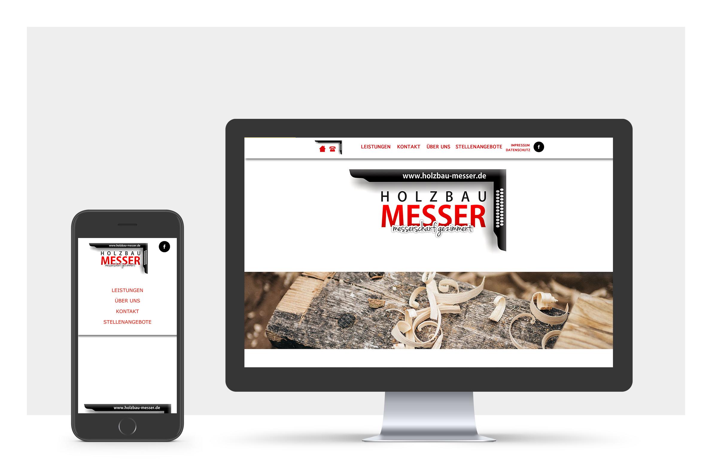 Foto Webitedesign auf Handy und PC