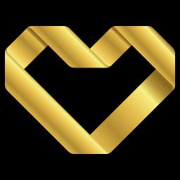 goldenes Herz Icon