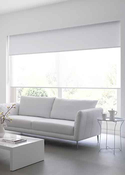 White Dual Roller Blinds