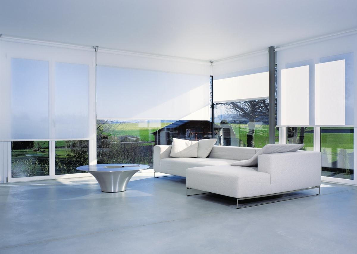 Living Room Sheer Sunscreen Roller Blinds