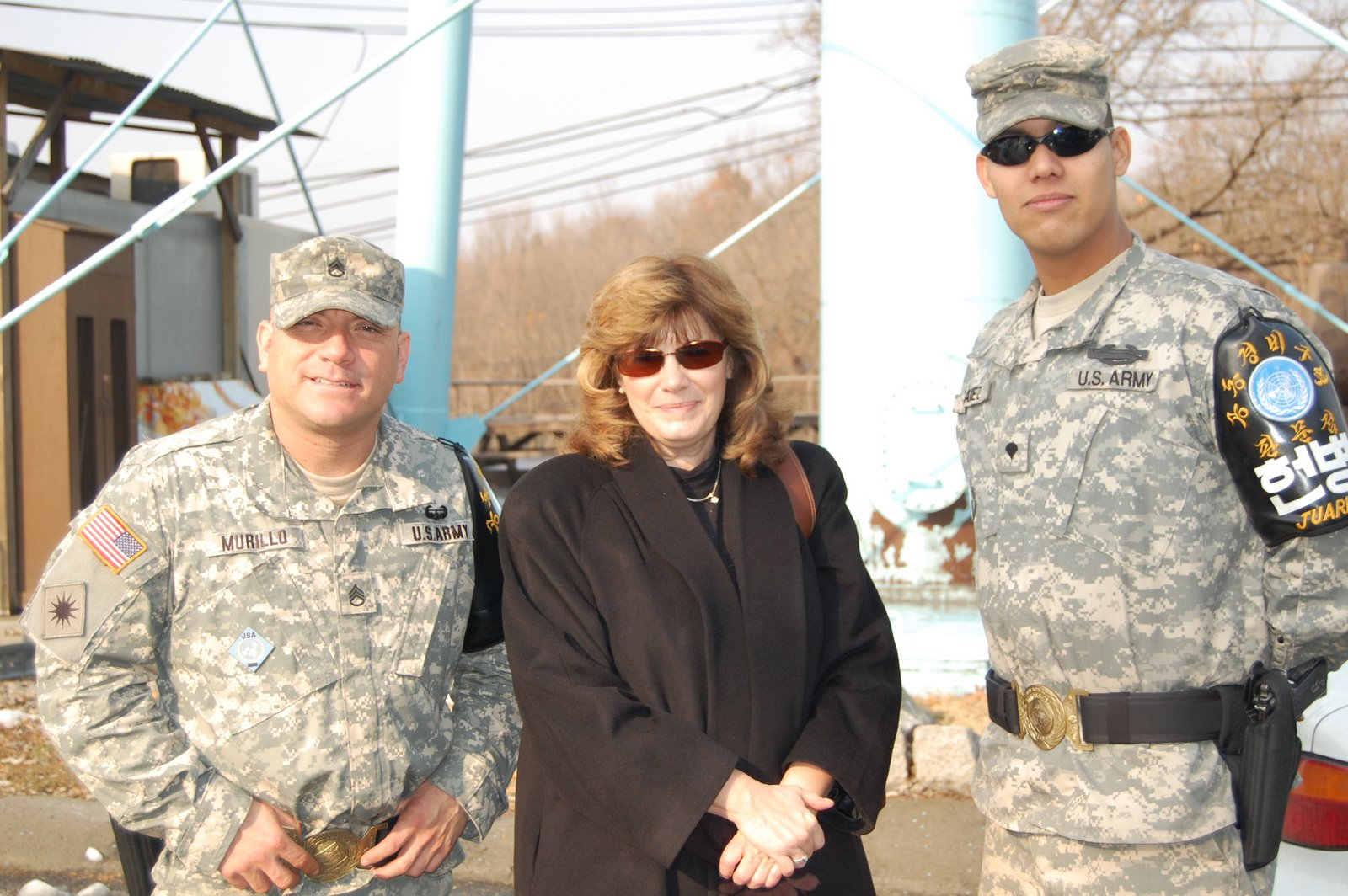 South Korea DMZ with the troops