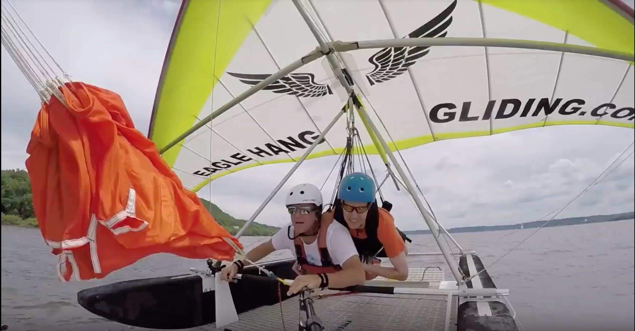 wish recipient michael hang gliding