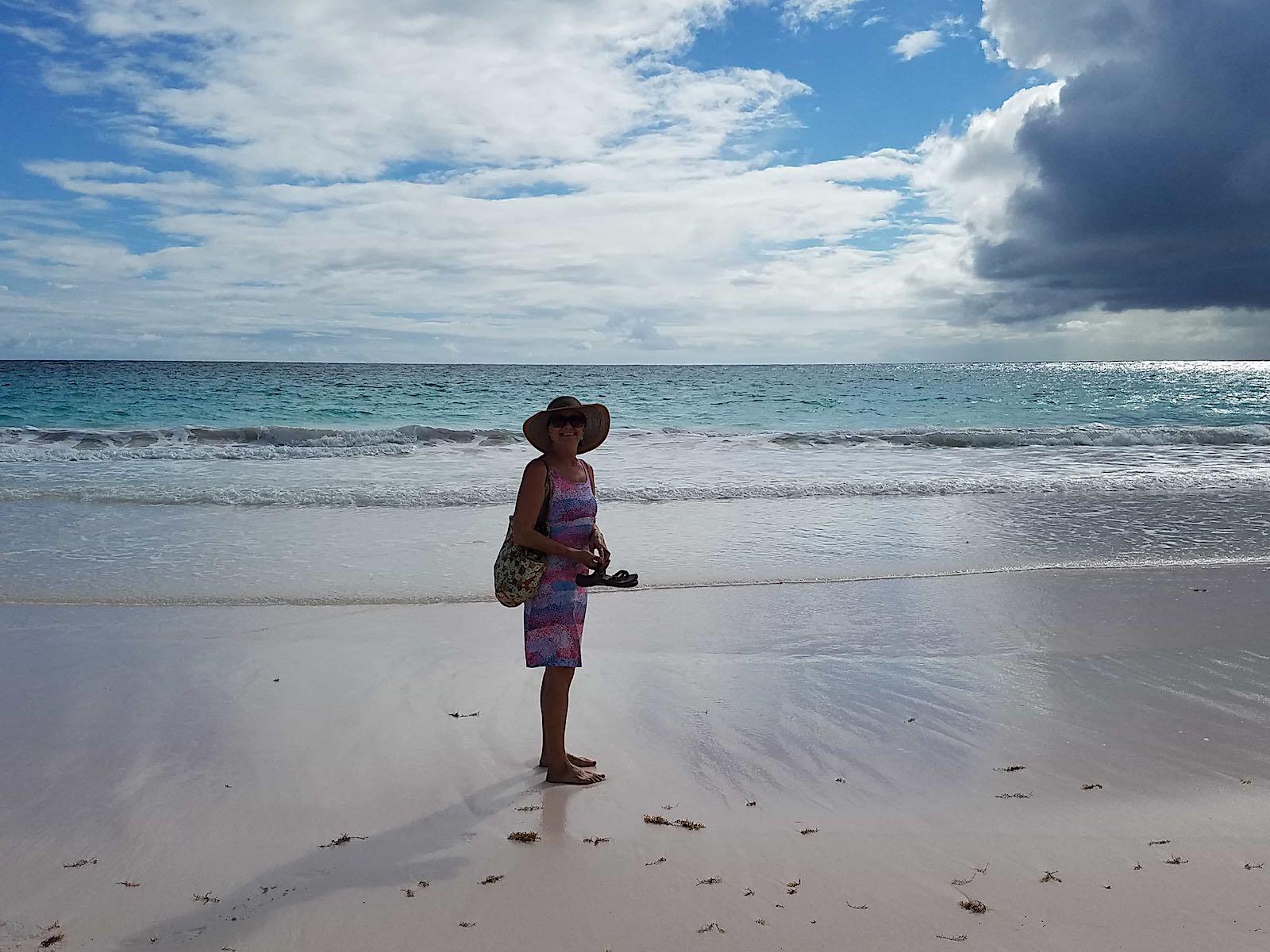 gail alone on the beach