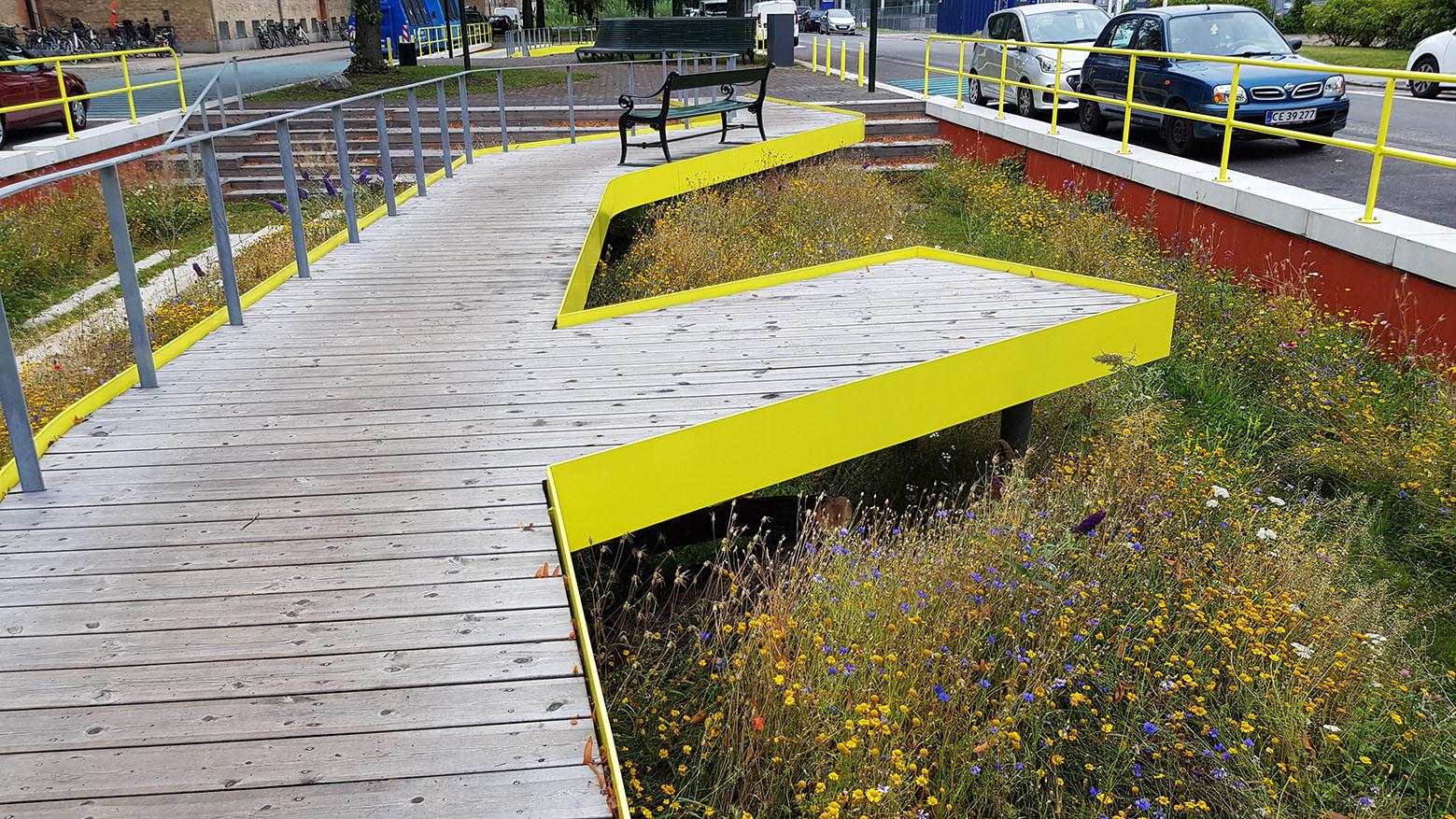 Byrummet indbyder til naturoplevelser gennem de mange grønne omgivelser
