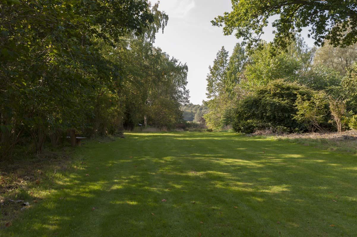 Grønt område med godt udsyn og plads til boldspil.