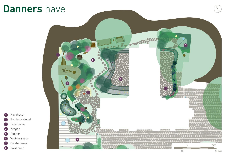 Billedet viser Danners haveplan.