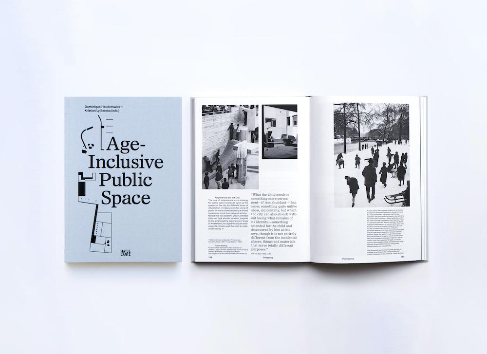 Forside og indvendig layout i udgivelsen Age-Inclusive Public Space