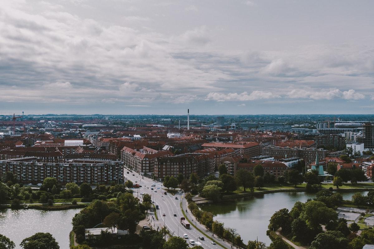 Luftfoto af København og omegnskommuner