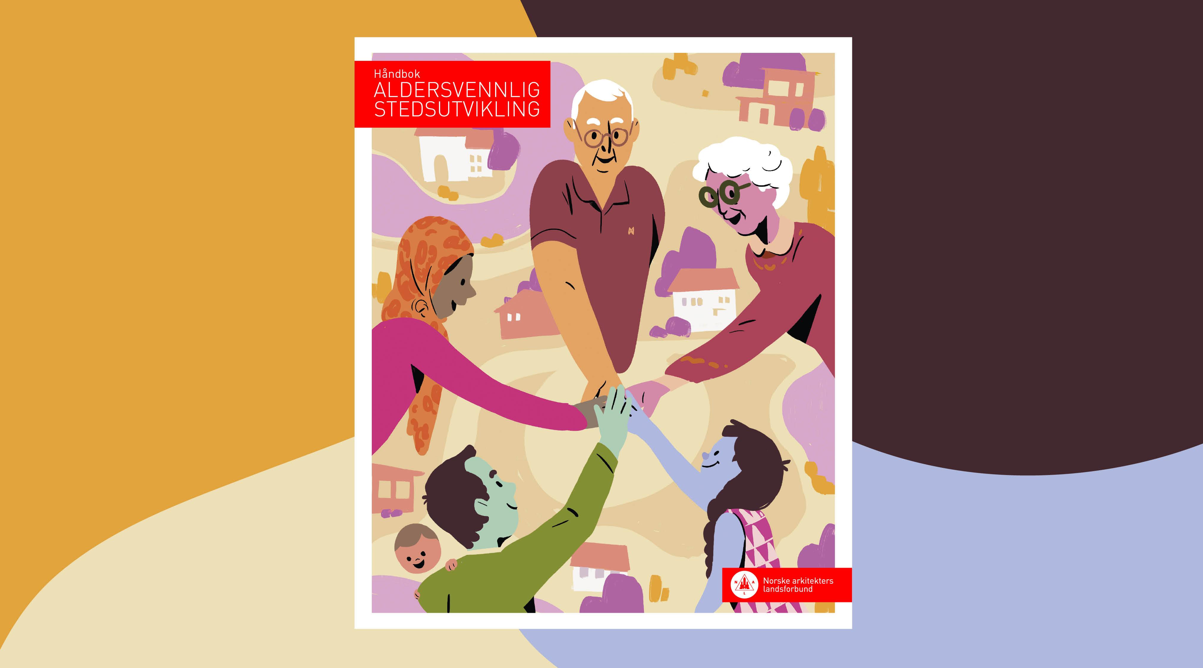 Grafik af forsiden på udgivelsen Aldersvenlige Samfund