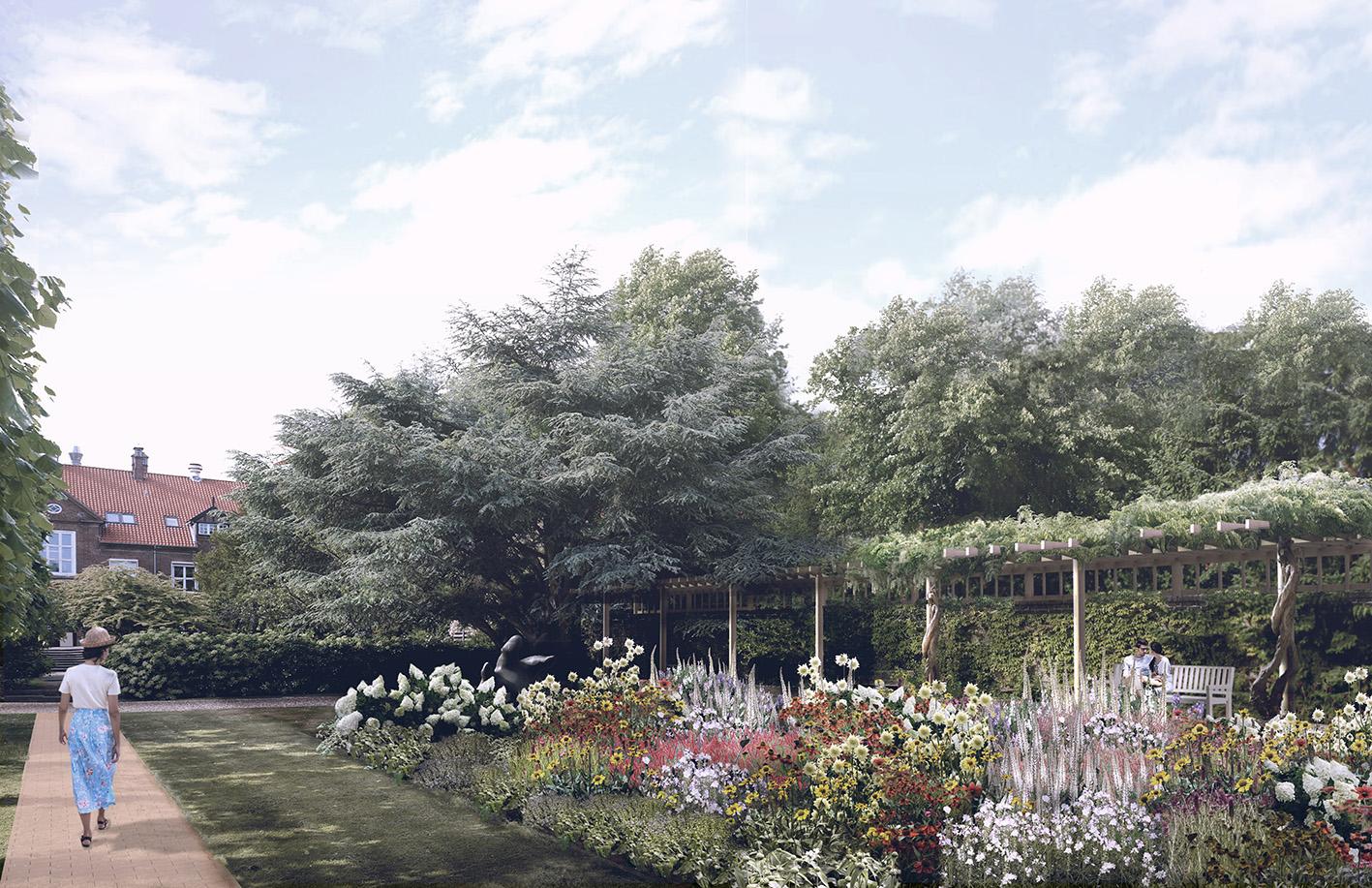 3D-visualisering af Bispebjergs helende haver