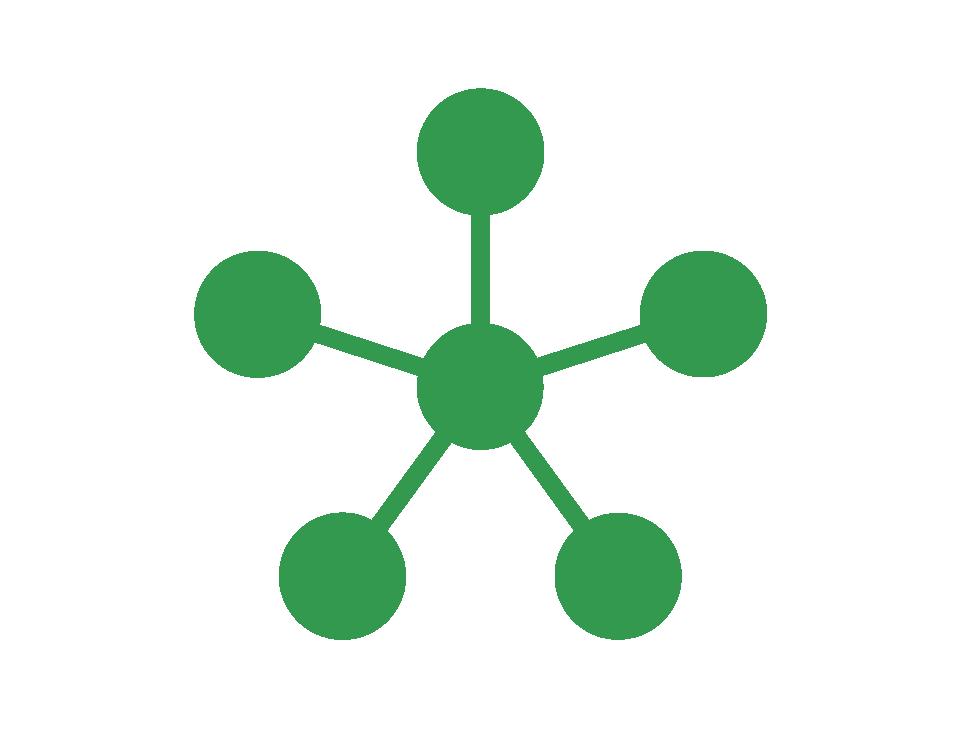 connected nodes/dots
