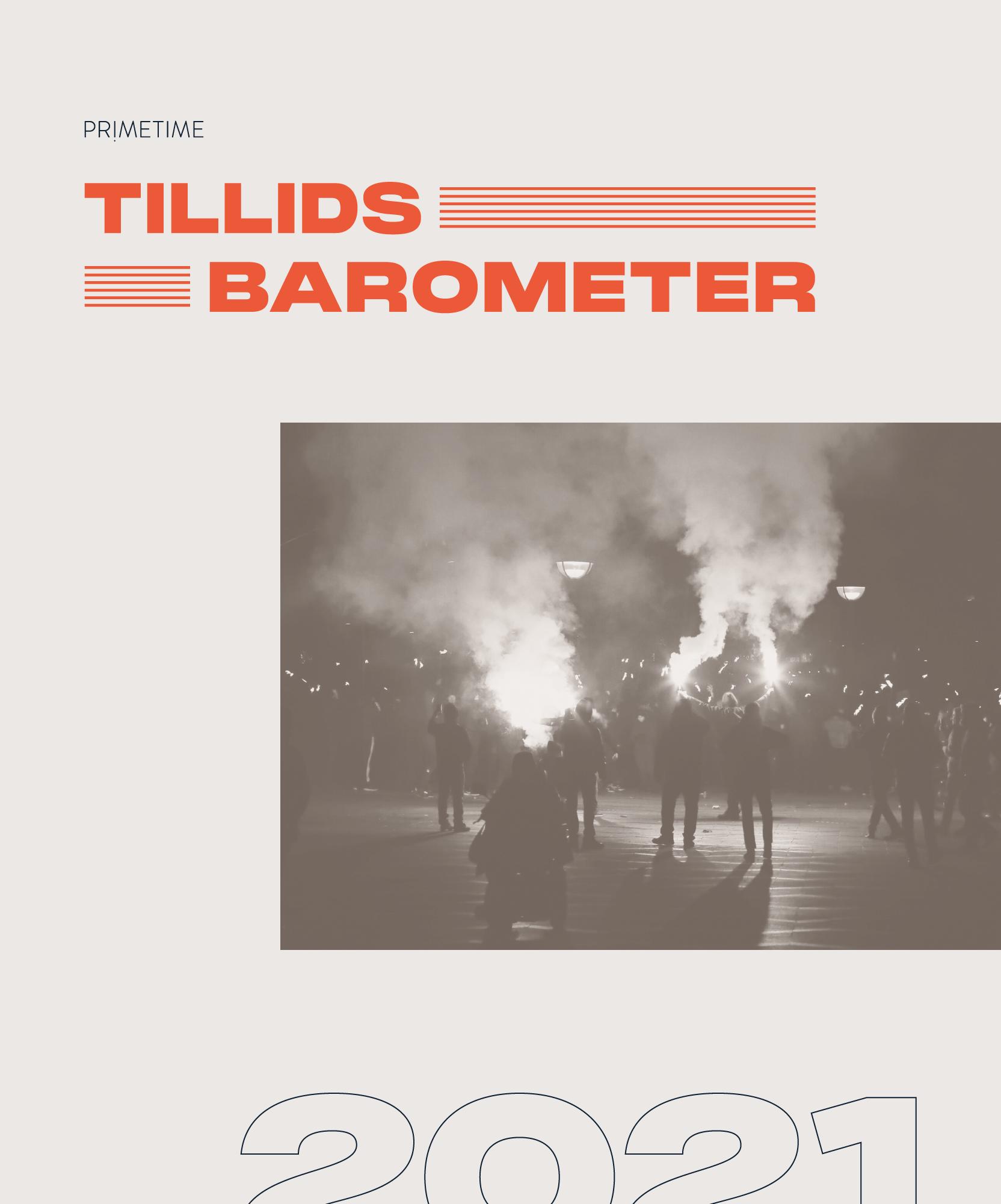 Billede af forsiden på Primetime's tillidsbaromenter