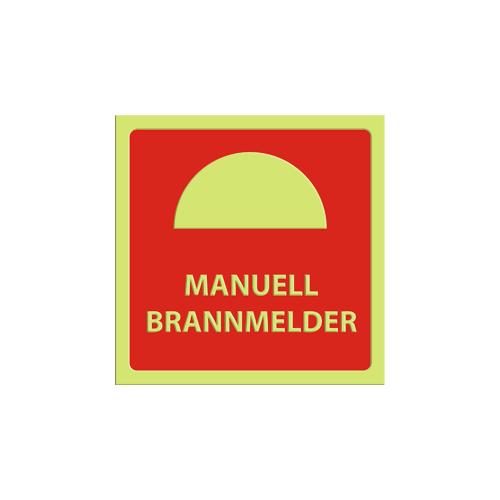 Brannalarm - Tekst: MANUELL BRANNMELDER