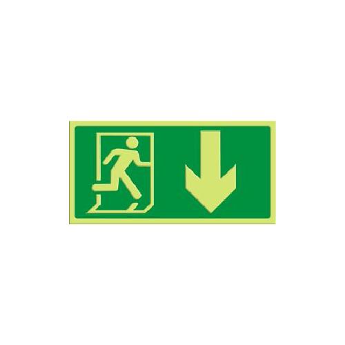 Exit - pil rett ned