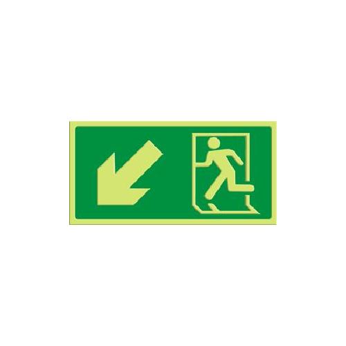 Exit - pil skrå ned venstre