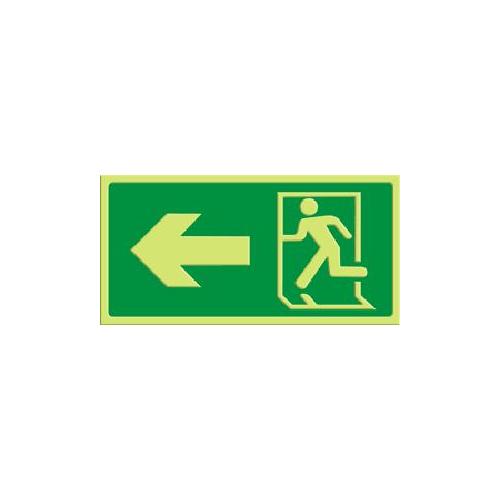 Exit - pil venstre