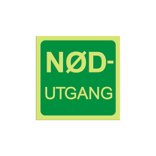 "Tekst: ""NØD-utgang"""