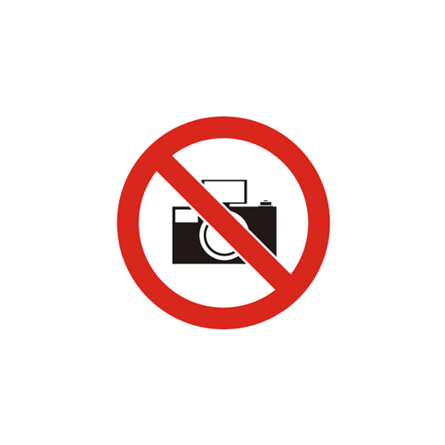 Forbudskilt - FOTOGRAFERING FORBUDT