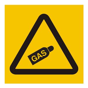 Fareskilt - GASS UNDER TRYKK