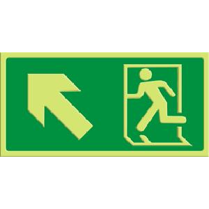 Exit - pil skrå opp venstre