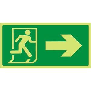 Exit - pil høyre