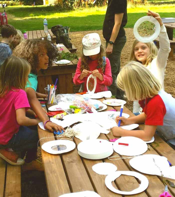 children doing arts and crafts at swallowtails
