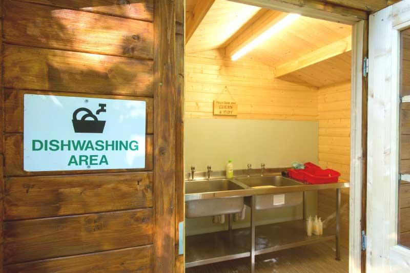 dish washing area at swallowtails