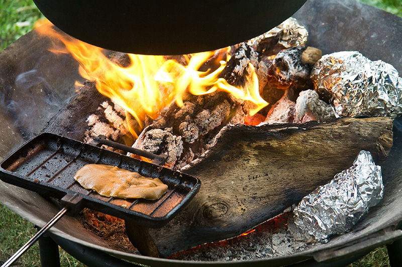 A fire is always a focal point of any glamping visit and will be remembered long after the holiday ends