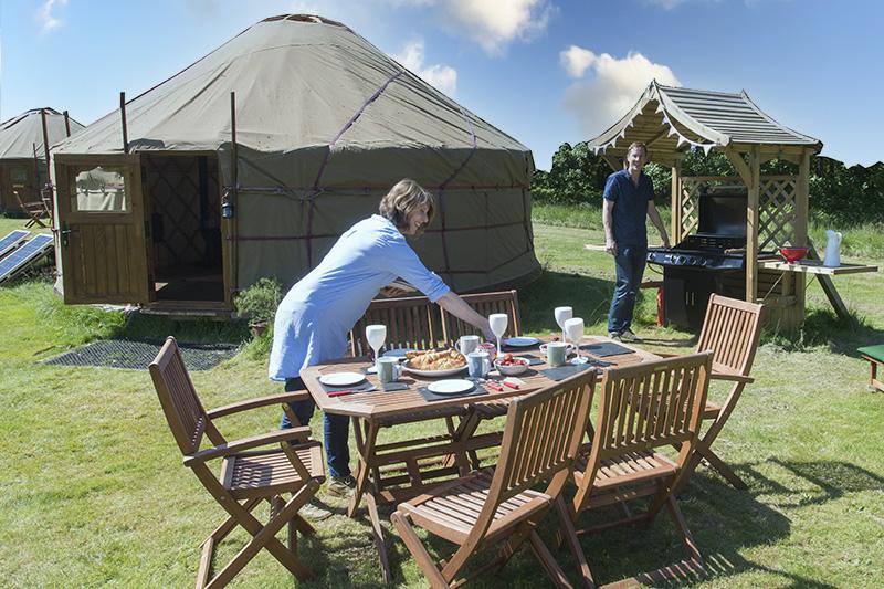 Brunch Outside Luxury Yurts