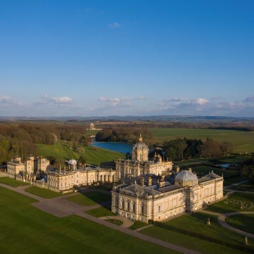 Aerial view of Castle Howard