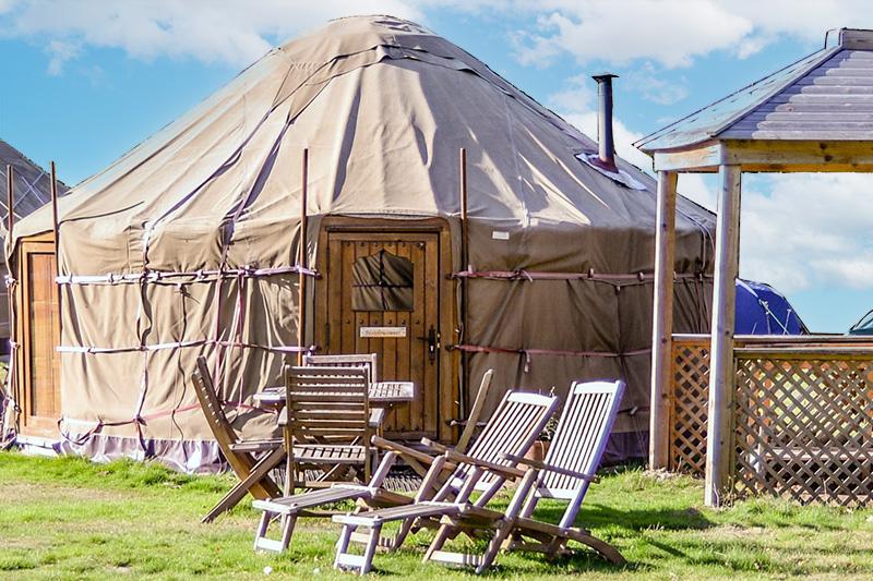 Outside Luxury Yurts