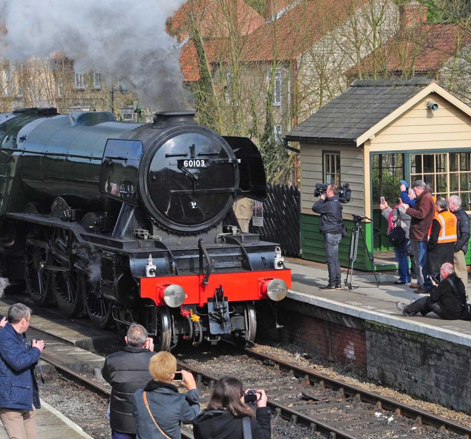 Steam train that travels through the North York Moors