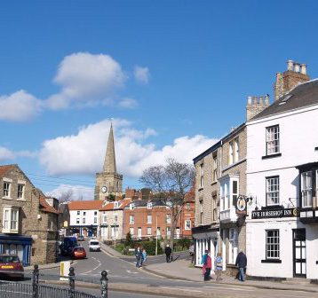 Pickering town high street North Yorkshire