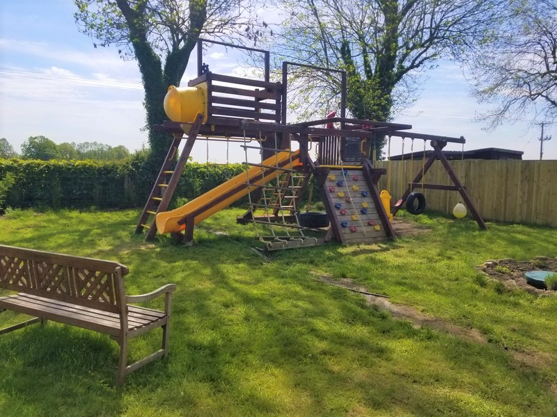 A large climbing frame to keep the kids happy and healthy at Swallowtail Holidays