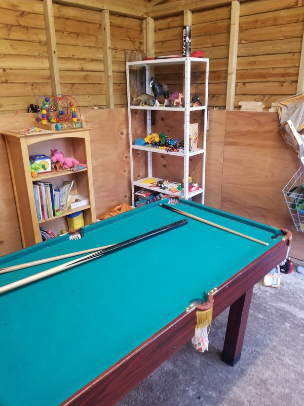 Our shed has some great games and a snooker table for those inclement days