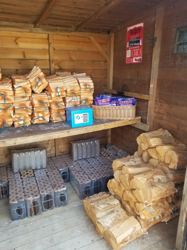 A store of dry wood for your stove, or barbeque BBQ area at great prices